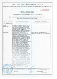 Сертификат РОСТЕСТ ГОСТ РФ на электронные замки для гостиниц фитнеса и офисов стр 2