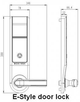 Размер корпуса для электронного замка BW823-E