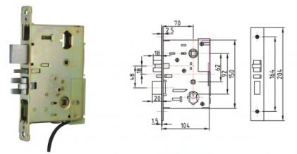 Врезной механизм для электронного замка AYT