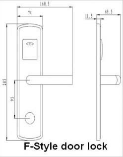 Размеры корпуса электронного замка BW 803-F